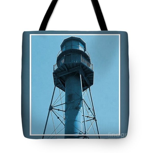 Tote Bag featuring the photograph Top Of Sanibel Island Lighthouse by Janette Boyd