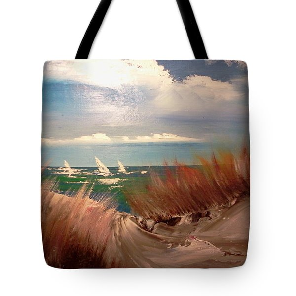 Top Of The Dune Tote Bag by Joseph Gallant