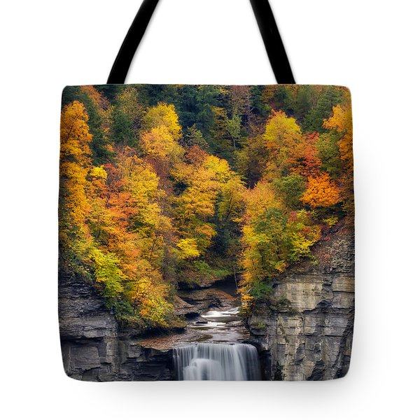 Top Of The Falls Tote Bag by Mark Papke