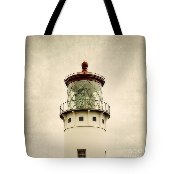 Top Of The Lighthouse Tote Bag by Scott Pellegrin