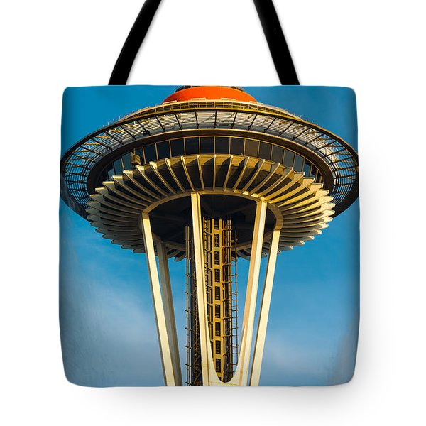 Top Of The Space Needle Tote Bag by Inge Johnsson