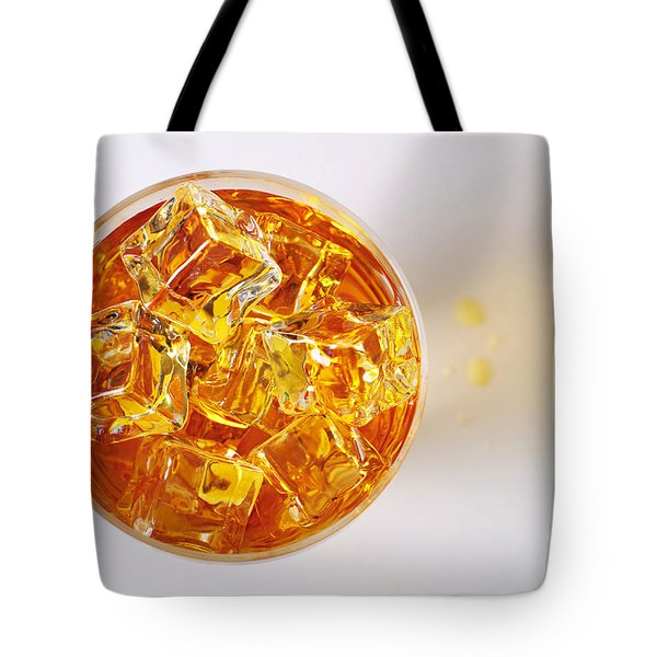Top View On Drink Tote Bag