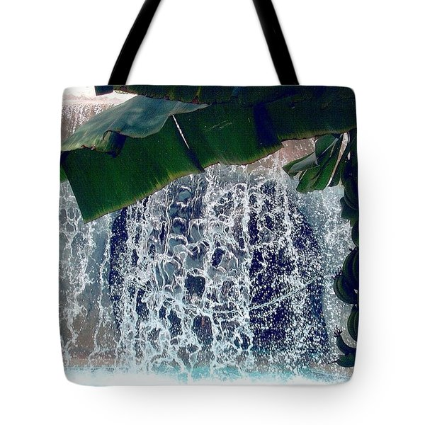 Tote Bag featuring the photograph Topical Water Fall by Judy Palkimas
