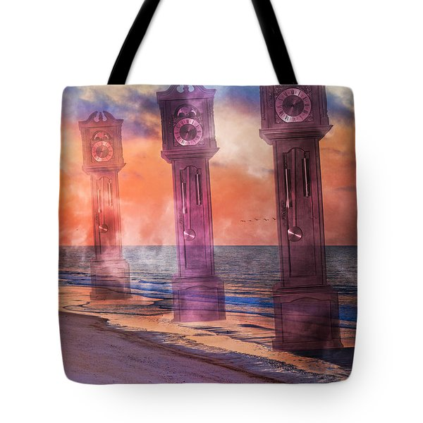Topsail Island A Matter Of Time Tote Bag