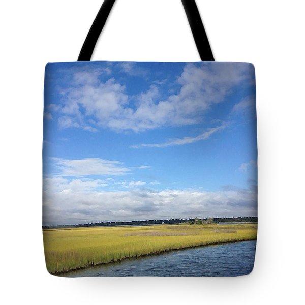 Topsail Island Icw Tote Bag