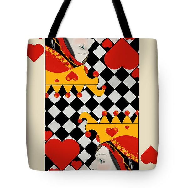 Tote Bag featuring the painting Topsy-turvy Queen by Carol Jacobs