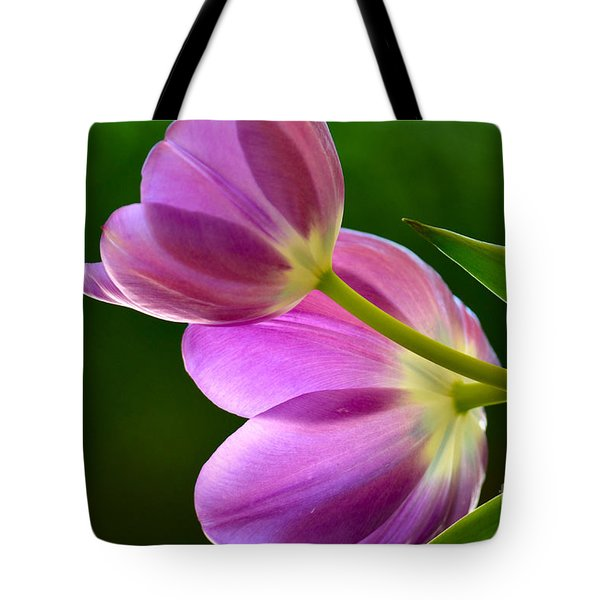 Topsy-turvy Tulips Tote Bag