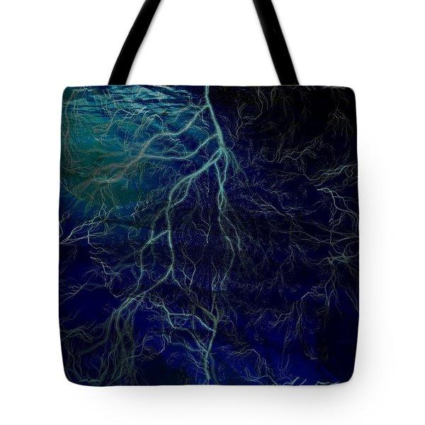 Tormented Sea Tote Bag by Amanda Eberly-Kudamik