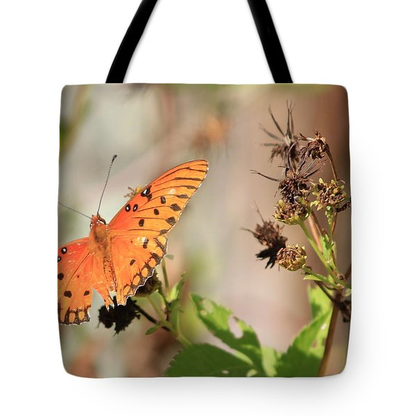 Torn Wing And Dry Flowers Tote Bag by Cyril Maza