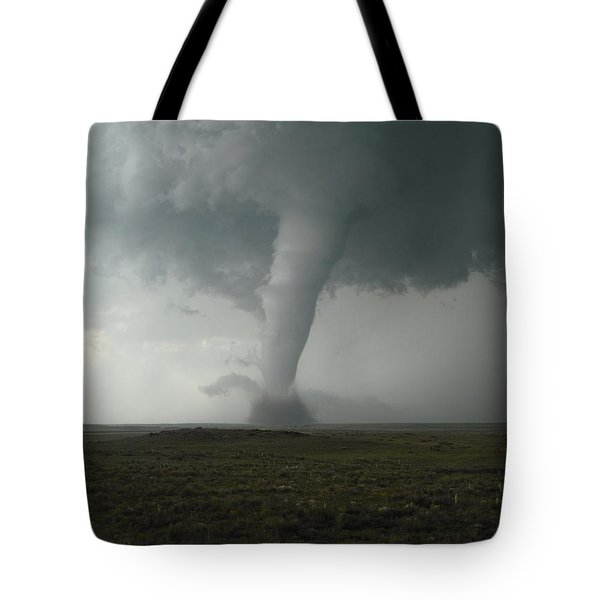 Tornado In The High Plains Tote Bag by Ed Sweeney