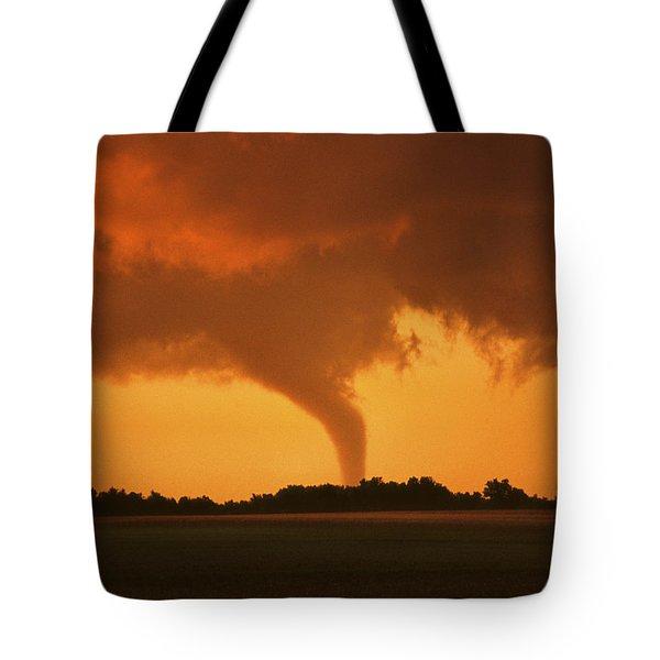 Tornado Sunset 11 X 14 Crop Tote Bag