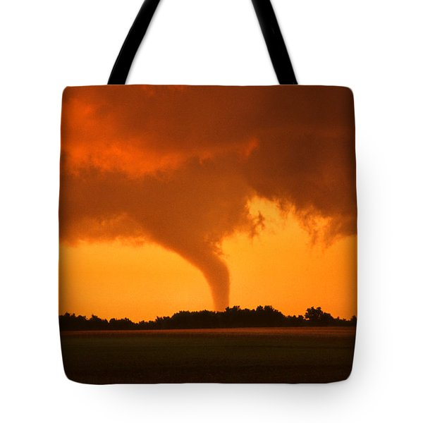 Tornado Sunset Tote Bag