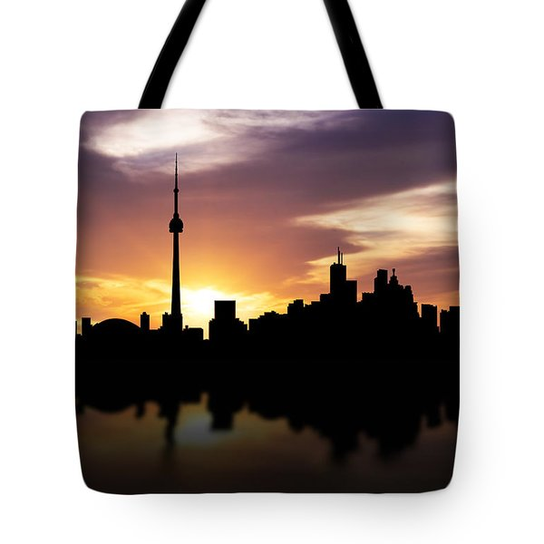 Toronto Canada Sunset Skyline  Tote Bag by Aged Pixel