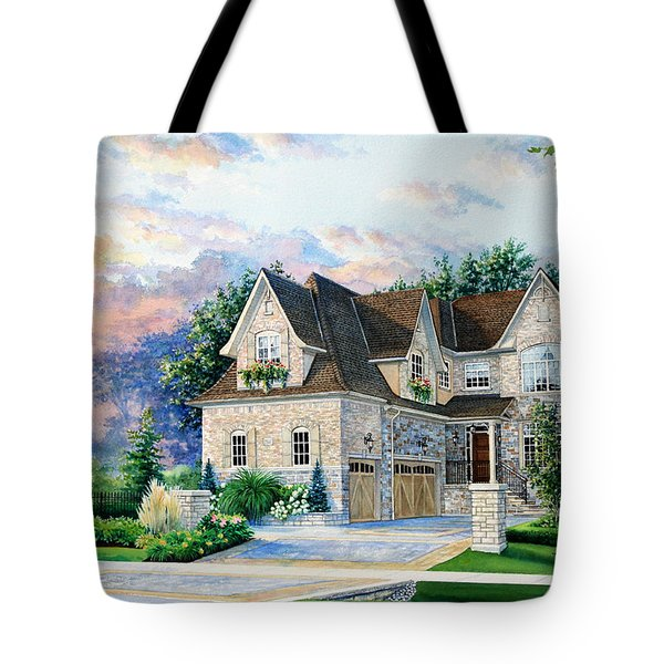 Toronto Family Home Tote Bag by Hanne Lore Koehler