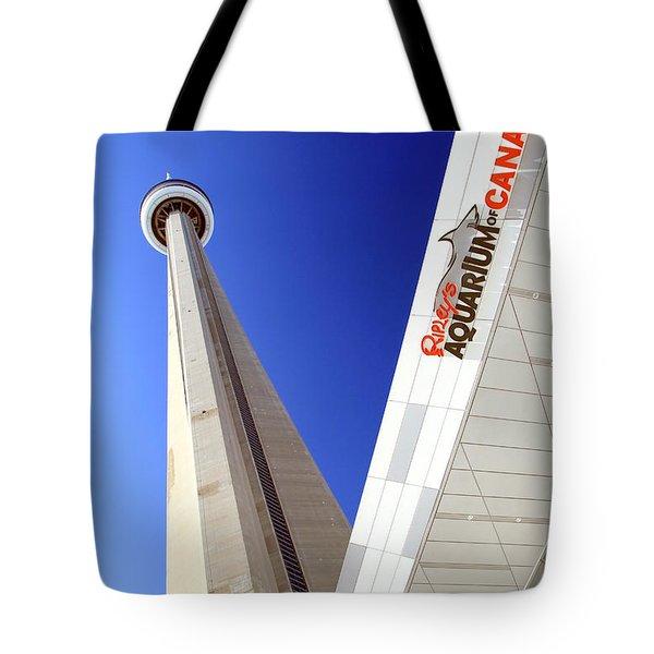 Toronto Landmarks Tote Bag by Valentino Visentini