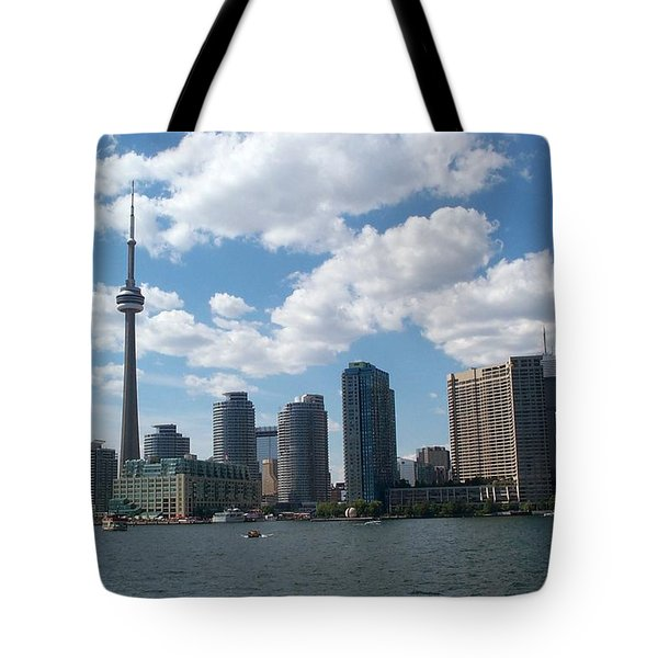Tote Bag featuring the photograph Toronto Skyline by Barbara McDevitt
