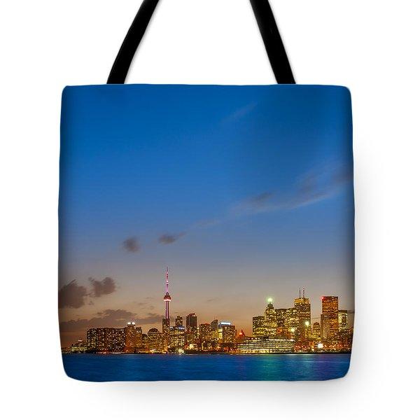 Toronto Skyline Tote Bag by Sebastian Musial