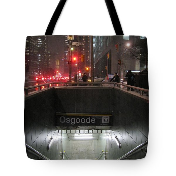 Toronto Subway At Night Tote Bag
