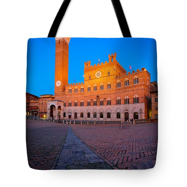 Torre Del Mangia Tote Bag by Inge Johnsson