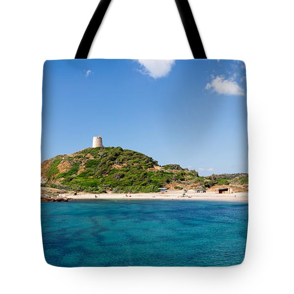 Torre Di Chia With The Saracen Tower Tote Bag