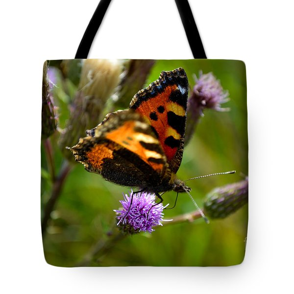 Tortoise Shell Butterfly Tote Bag