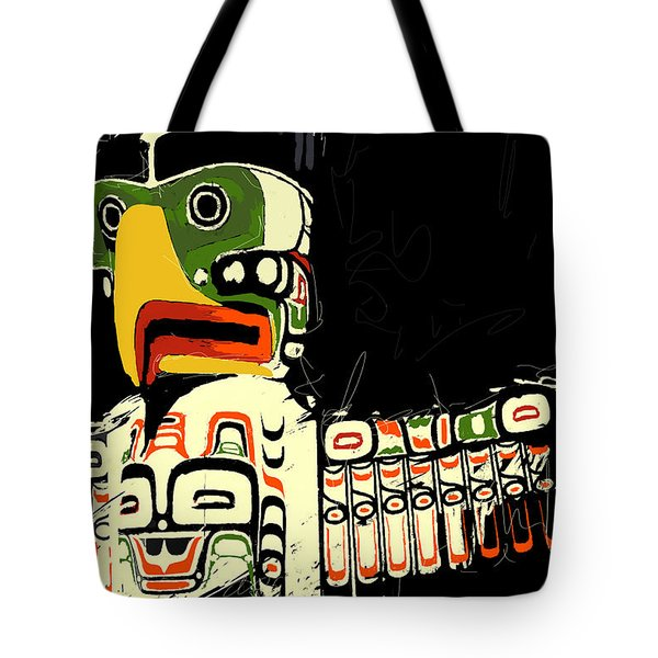 Totem Pole 01 Tote Bag by Catf