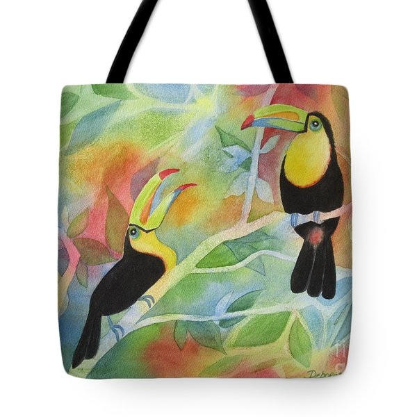 Toucan Play At This Game Tote Bag by Deborah Ronglien
