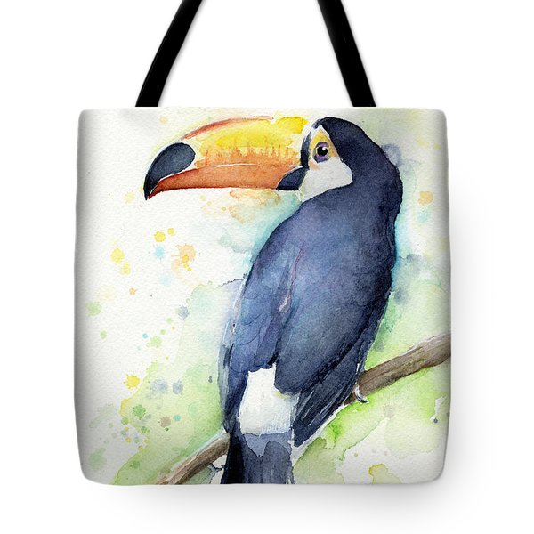 Toucan Watercolor Tote Bag by Olga Shvartsur