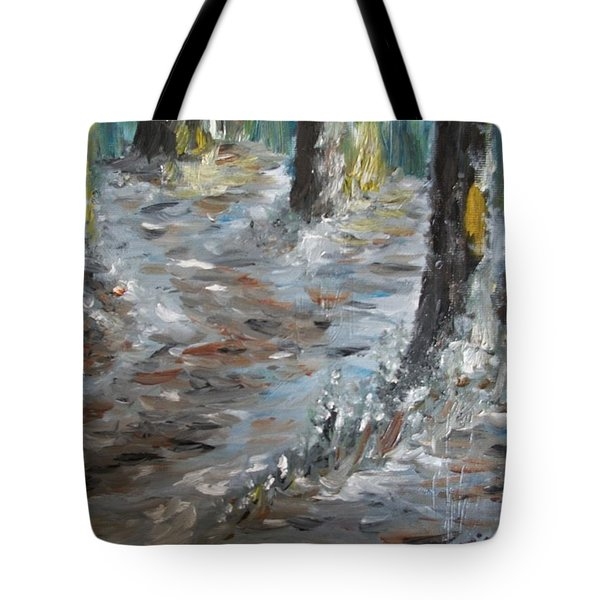 Tote Bag featuring the painting Touch Of Christmas by Teresa White