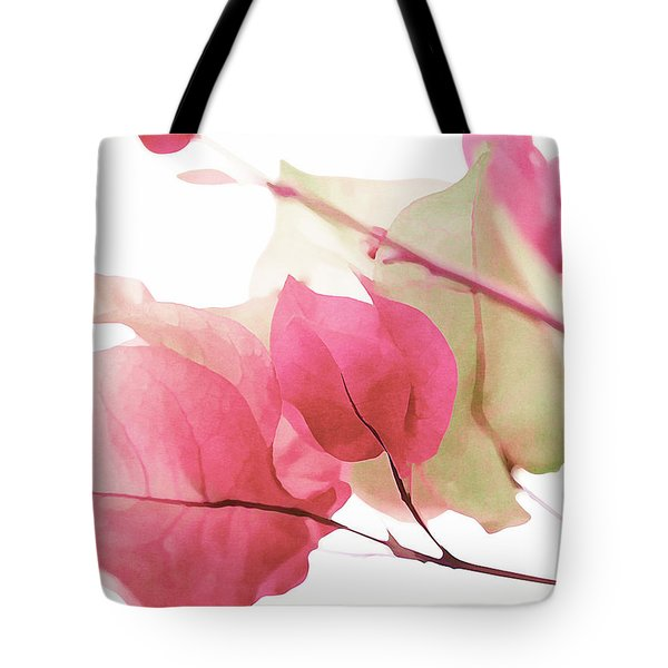 Touch Of Pink Bougainvillea Tote Bag