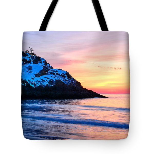 Touch Of Snow Singing Beach Tote Bag