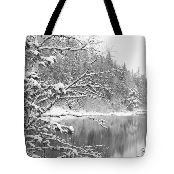Touch Of Winter Tote Bag by Diane Bohna