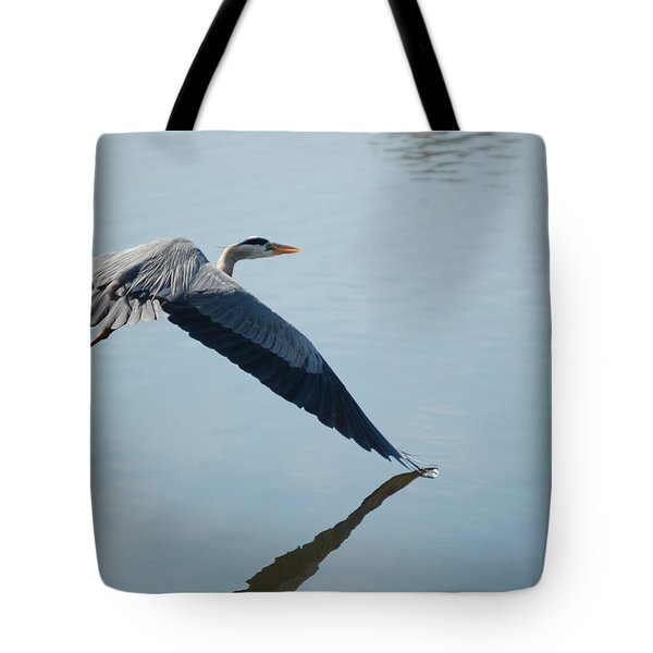 Touch The Water With A Wing Tote Bag by Randy J Heath