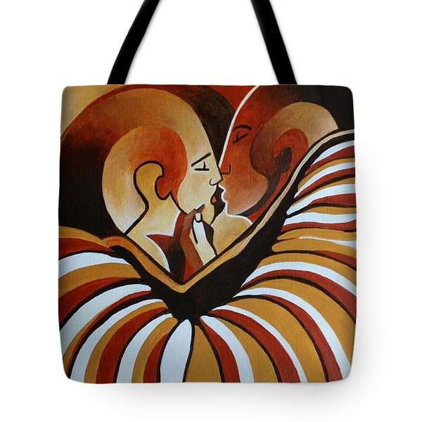 Tote Bag featuring the painting Touched By Africa I by Tracey Harrington-Simpson
