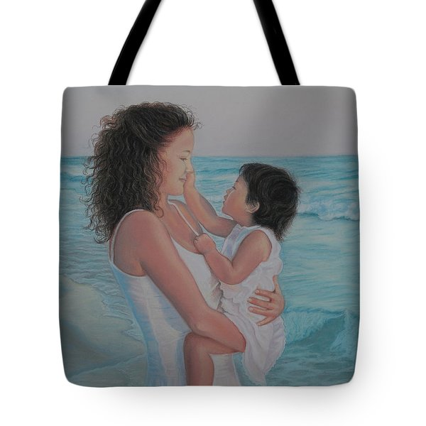Touched By An Angel Tote Bag by Holly Kallie