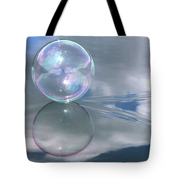 Touching The Clouds Tote Bag by Cathie Douglas