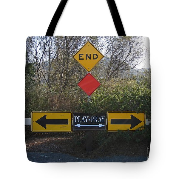 Tote Bag featuring the photograph Tough Decision by James B Toy