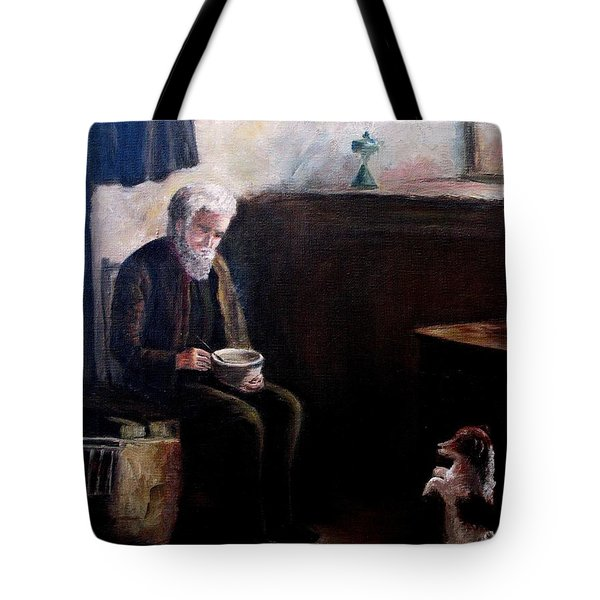 Tote Bag featuring the painting Tough Times by Hazel Holland