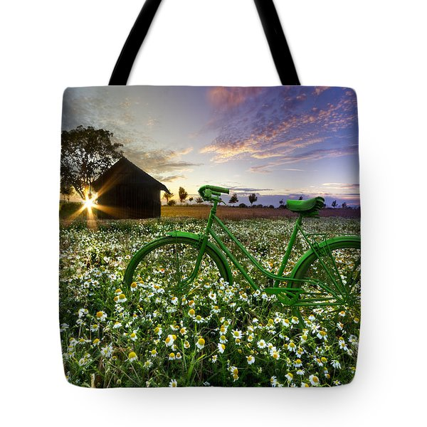 Tour De France Tote Bag by Debra and Dave Vanderlaan