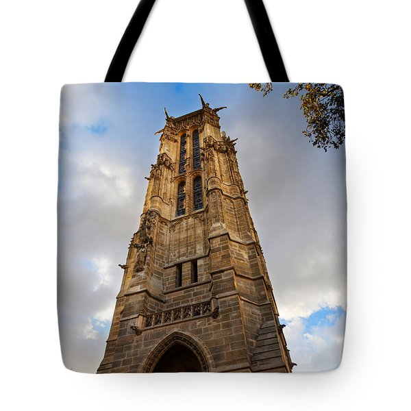 Tour St Jacques In Autumn Paris Tote Bag by Louise Heusinkveld