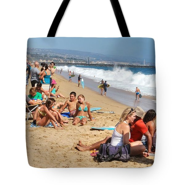 Tourist At Beach Tote Bag