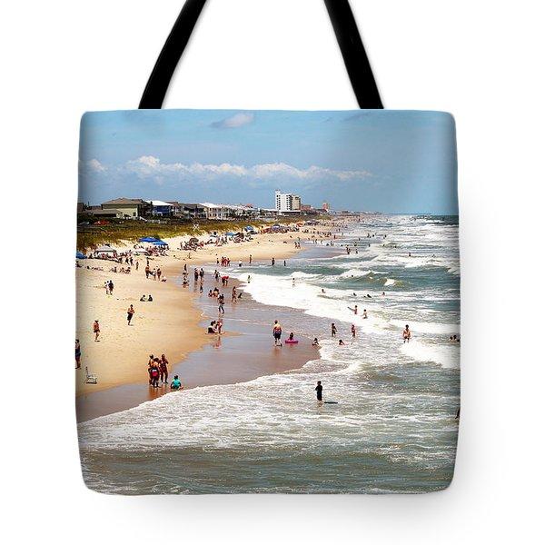 Tourist At Kure Beach Tote Bag
