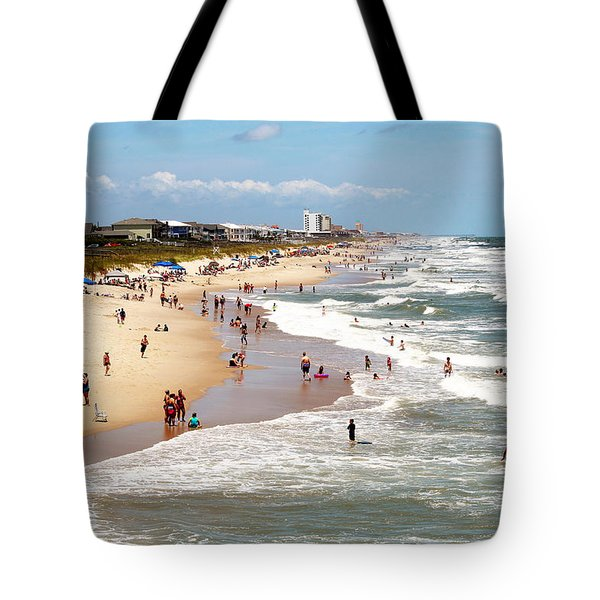 Tourist At Kure Beach Tote Bag by Cynthia Guinn