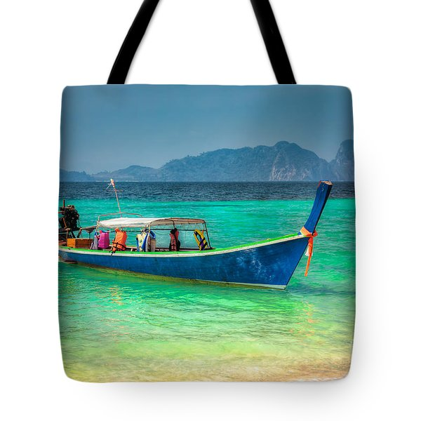 Tourist Longboat Tote Bag by Adrian Evans