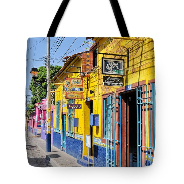 Tote Bag featuring the photograph Tourist Shops - Mexico by David Perry Lawrence