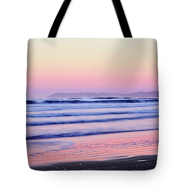 Tourists Fly-fishing On Beach Tote Bag