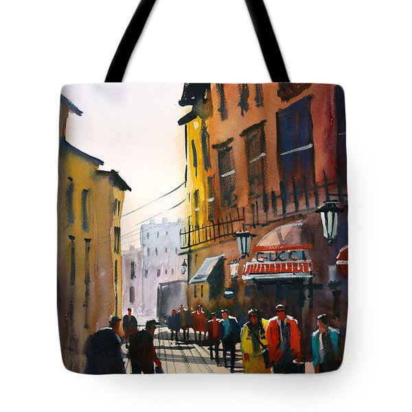 Tourists In Italy Tote Bag