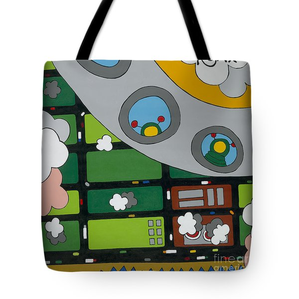 Tourists Tote Bag by Rojax Art