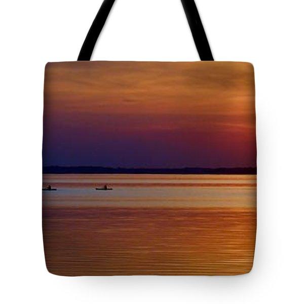 Tours End - Kayak Sunset Photo Tote Bag