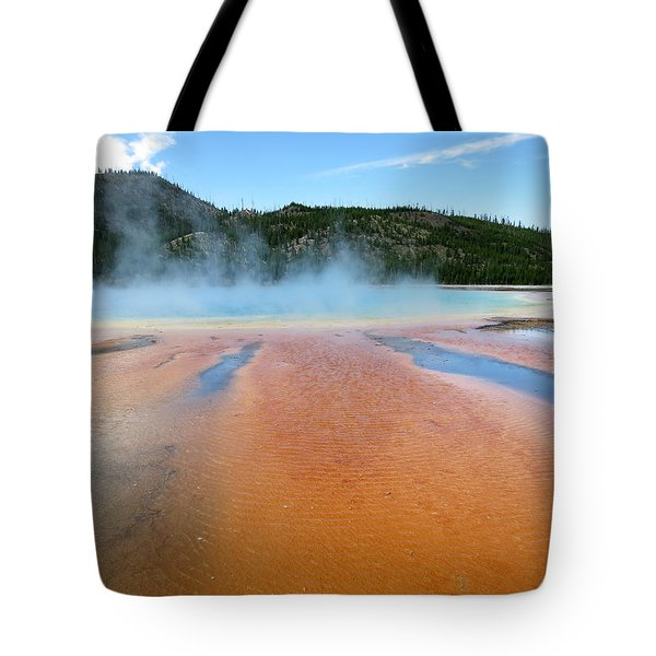 Toward The Blue Stream Tote Bag by Laurel Powell
